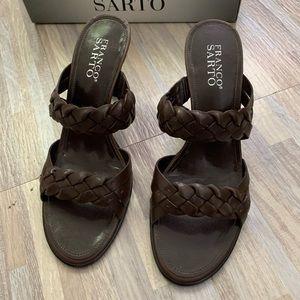 Franco Sarto Brown High Heel Sandals